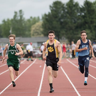 Brayden Ison took first place in the boys 200-meter