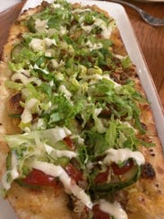 Wind & Waves Grill's cheeseburger flatbread comes with