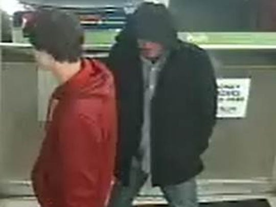 A man in a black coat on Jan. 31 tried to rob a 7-Eleven
