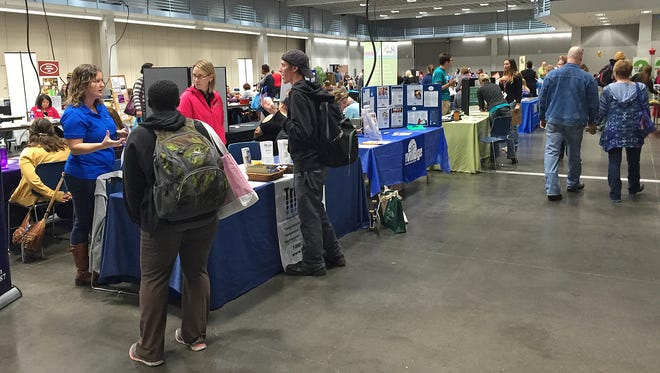People who are homeless or at risk of homeless received information and services at Project Homeless Connect on Thursday, Oct. 21 at the River's Edge Convention Center.