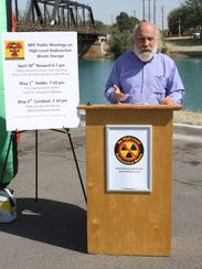 """Tom """"Smitty"""" Smith speak at a news conference opposing"""