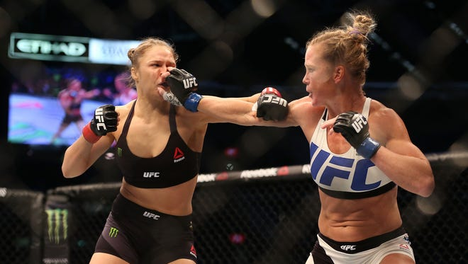 Ronda Rousey and Holly Holm battle in November in Melbourne, Australia.