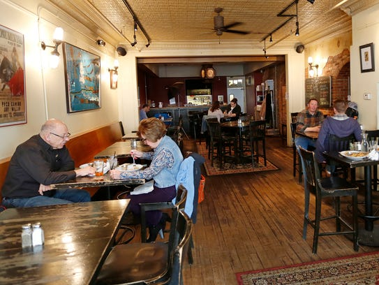 Patrons enjoy lunch Tuesday, February 28, 2017, at