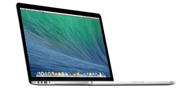 A MacBook Pro laptop.