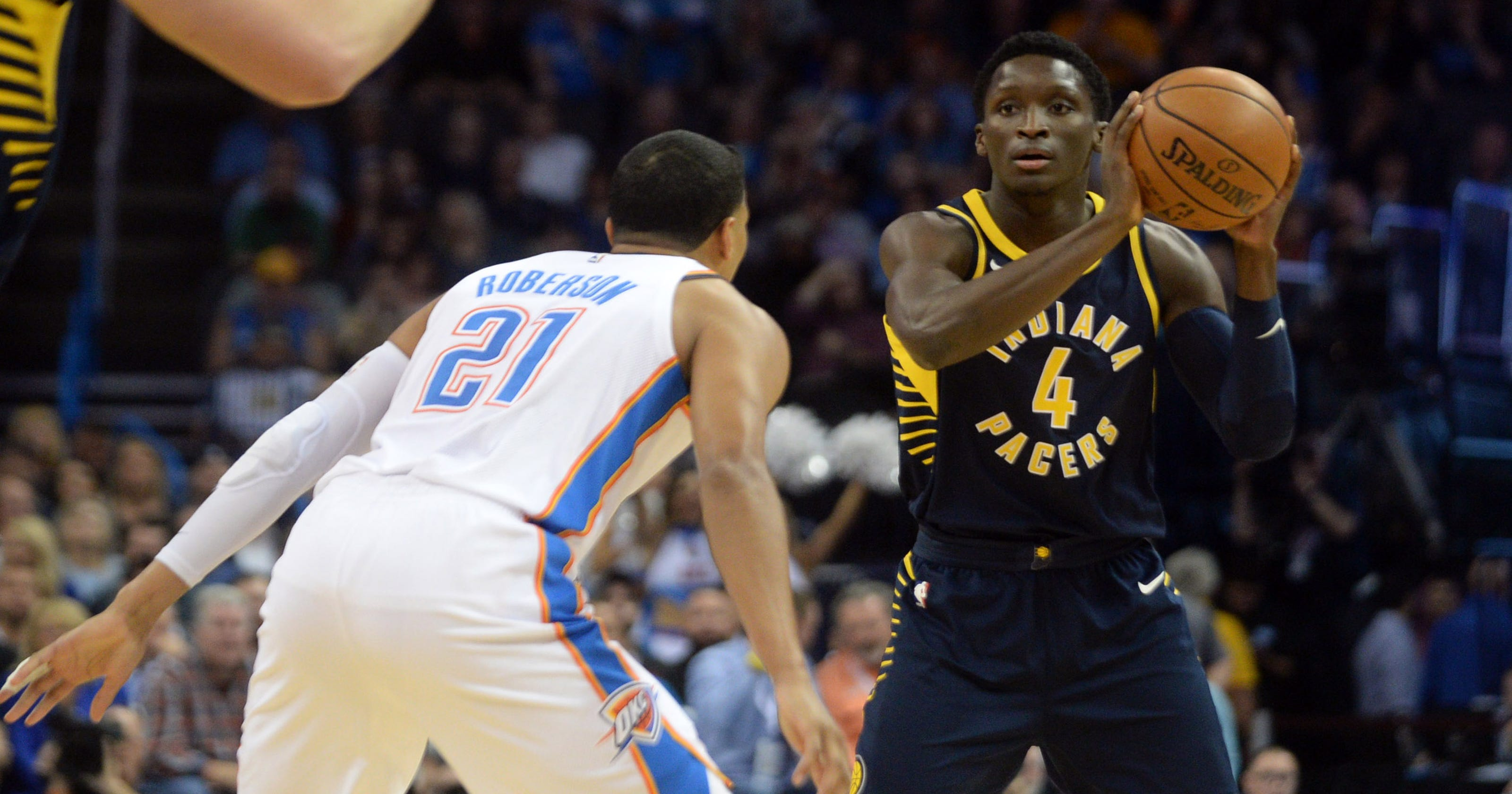 outlet store 3895a dc812 Pacers: Victor Oladipo makes statement against Thunder with ...