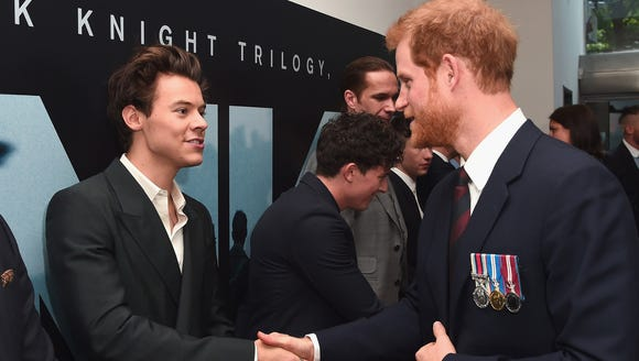Harry Styles met Prince Harry at the 'Dunkirk' world