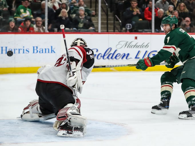 Feb 8, 2018; Saint Paul, MN, USA; Minnesota Wild forward