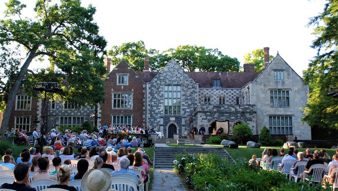 "The 2017 Shakespeare on the Lawn audience watched ""The Taming of the Shrew."""