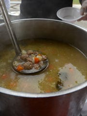 Italian wedding soup from Mango's. Hundreds came out