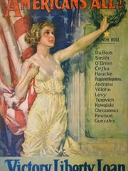 """Americans All!,"" 1919, Howard Chandler Christy. Collection of Henry Sheldon Museum of Vermont History."