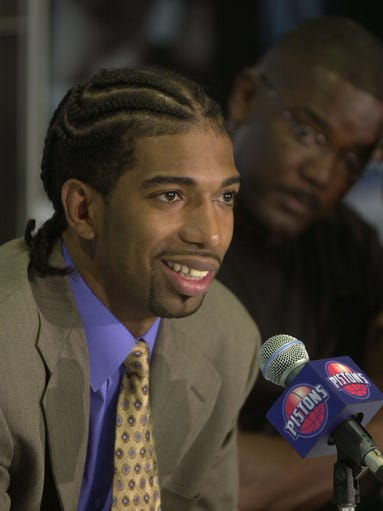 Richard Hamilton speaks to the media after joining