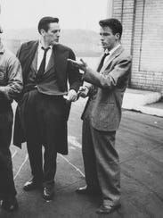 Stanley Kubrick, Montgomery Clift with fellow actor
