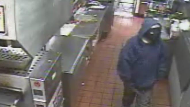 Snapshot of the burger king robber