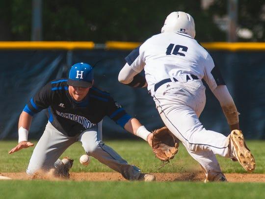 Timber Creek third baseman Will Bartley (16) steals