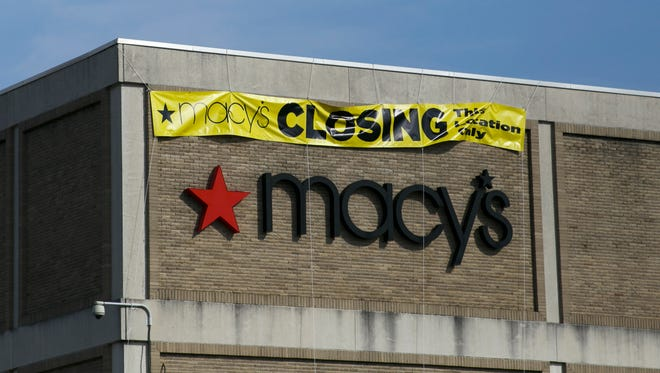 A sign on the side of a Macy's in Ohio in 2015.