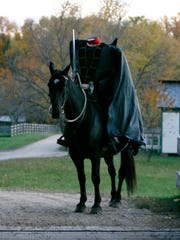 The Headless Horseman is stopped by the bridge at Conner Prairie