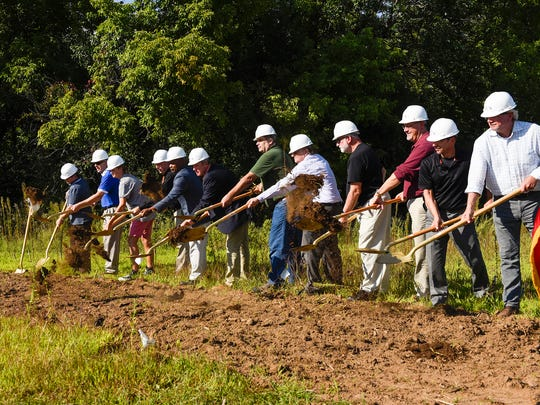 The first shovels of dirt were thrown during the groundbreaking for the new Tech High School Monday, Aug. 28, near 33rd Street South.