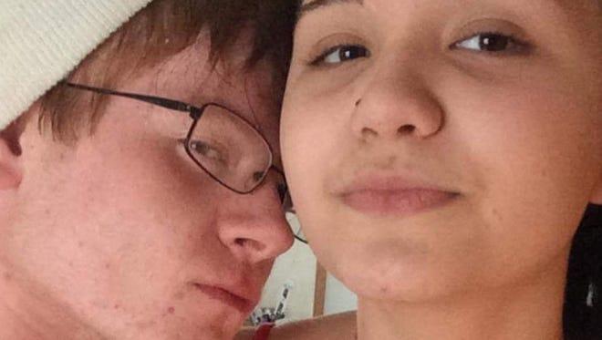 Sara Ryan, 15, of Crimora and her boyfriend, Tanner Snead, 15, of Waynesboro.