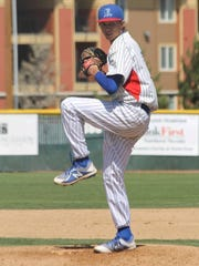 Reno High senior Sawyer Jaksick pitches during a recent