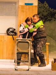 "Karen Janes Woditsch and Joe Foust perform a scene from ""Almost, Maine."""