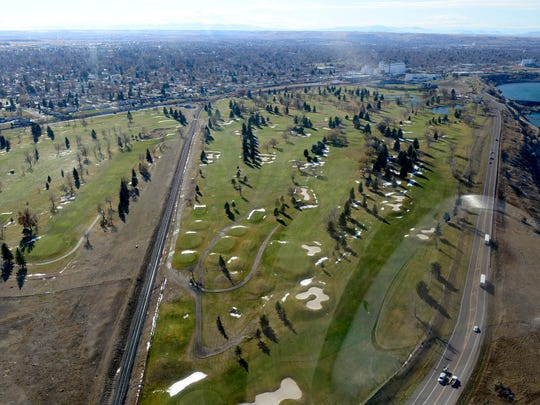 Eagle Falls Golf Course is shown in this aerial photo