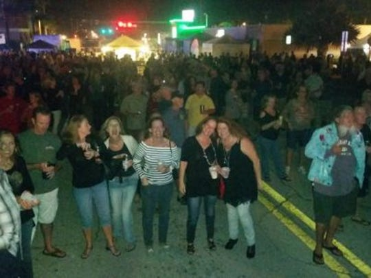 Cocoa Beach Art Show street party.