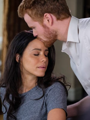 """Parisa Fitz-Henley and Murray Fraser star in """"Harry & Meghan: A Royal Romance,"""" premiering Sunday, May 13th, on Lifetime."""