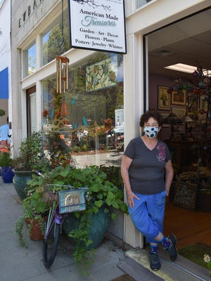 Barbara Hughes, owner of Narnia Studios, says the business stores get during Apple Festival weekend is crucial to survival.