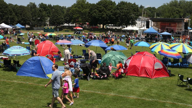 Tent City spaces will go on sale for the Pleasantville Music Festival. March 11. The festival takes place July 8, 2017