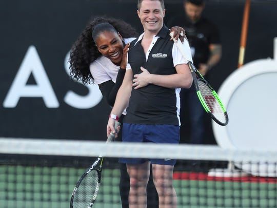 Serena Williams at the Desert Smash charity tennis