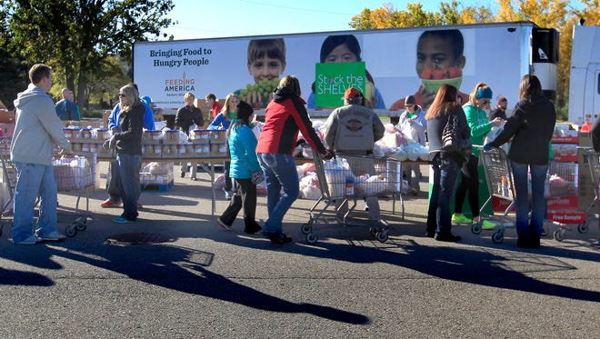 Feeding America's mobile food pantry will be providing food 10 a.m. to noon Nov. 3 in the parking lot of the Appleton Post-Crescent in downtown Appleton.