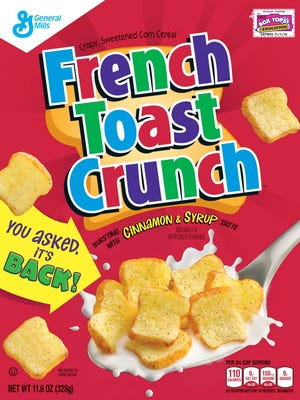 French Toast Crunch, discontinued in 2006, is back on U.S. shelves.