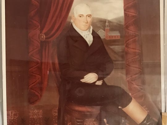This image of Martin J. Ryerson is on display at the Pompton Reformed Church in Pompton Lakes. Ryerson and his family are woven into the history of Pompton Lakes and nearby communities. He is believed to be buried in a vault behind the church.