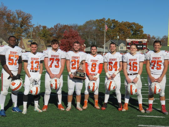 Steven Capone (75) and his fellow seniors helped stretch