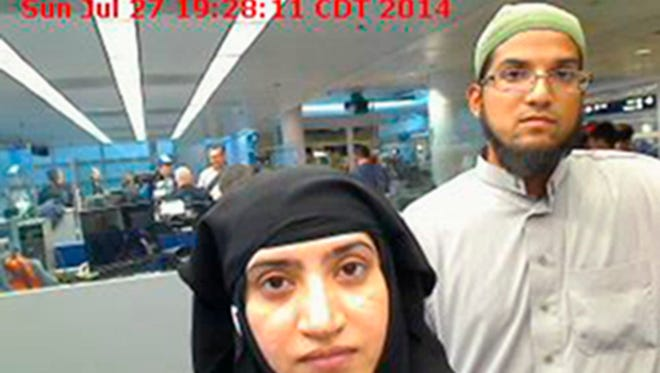 Tashfeen Malik, left, and Syed Farook