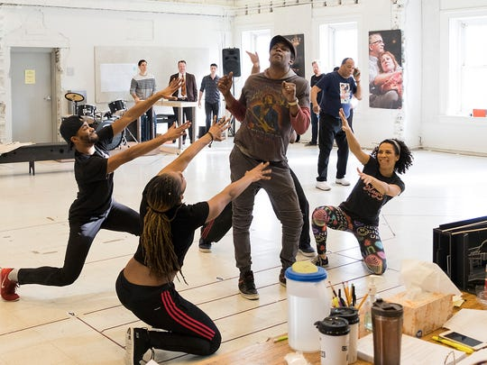 "The cast of ""SOUL The Stax Musical"" rehearses for the production's world premiere at Baltimore Center Stage. The new musical tells the story of the rise of Stax Records during the turbulent '60s and '70s."
