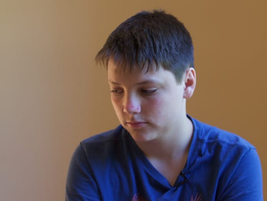 Peter Clarke, 15, said his father came to his rescue,