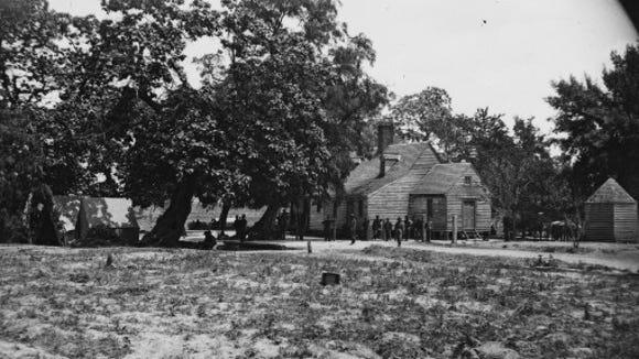1864 Timothy H. O'Sullivan photo of Burnett Tavern near Old Cold Harbor