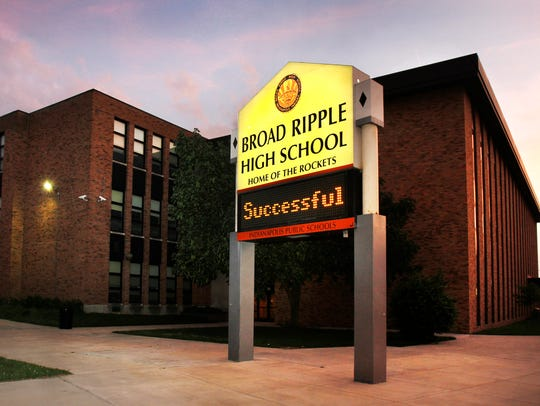 Exterior of Broad Ripple High School in 2011.