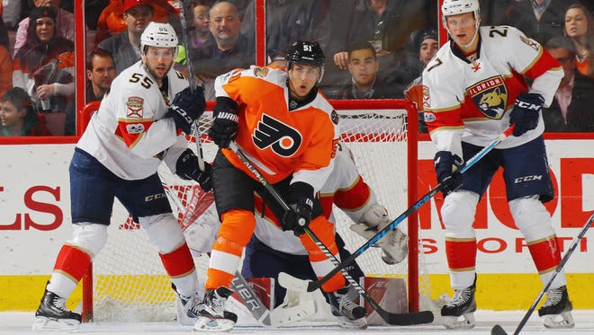 Valtteri Filppula has been a big part of the Flyers' power play, which is operating at 27.3 percent.