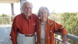 John Henderson and his wife of 77 years, Charlotte, live in Austin in the independent living section of Longhorn Village, a community of more than 360 seniors. They were the first people to move into the retirement community when it opened.