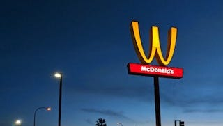"""McDonald's is celebrating International Women's Day by flipping their signature """"M"""" to become a """"W."""""""