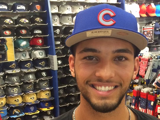 Tyson Miller smiles in this file photo from last June as he was drafted in the fourth round by the Chicago Cubs.