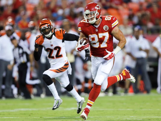 best sneakers 81f12 2508e Chiefs' Kelce finally shows glimpse of potential