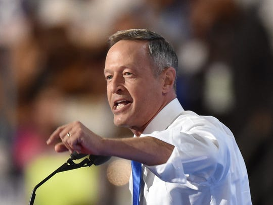 Former Governor of Maryland Martin O'Malley speaks