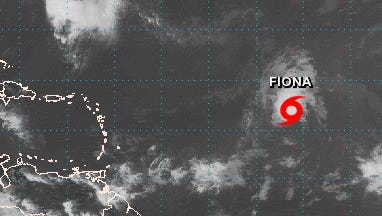 Tropical storm Fiona is expected to weaken over the weekend.