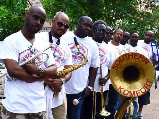 Southern Komfort Brass Band plays Saturday at Martin's.
