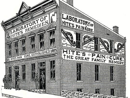 """Sam Hite's laboratory at 109-111 S. Lewis St., from an 1890s promotional booklet titled """"Staunton, Virginia: Its Past, Present and Future."""""""