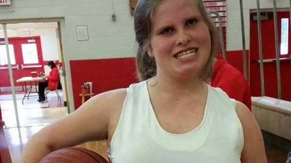Britt Watson played in her first-ever basketball game for the Franklin JV girls on Friday.