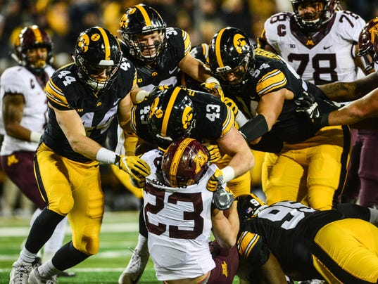 NCAA Football: Minnesota at Iowa